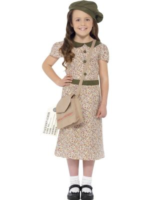 Girl's Fancy Dress | Girl's War Evacuee Costume